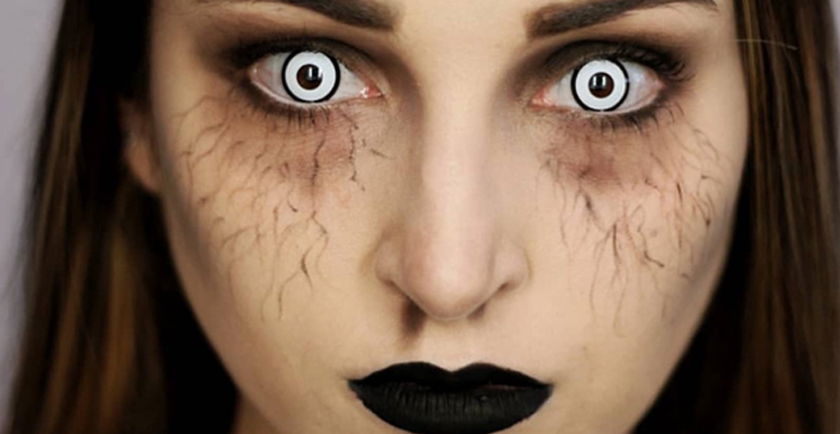 Why you should choose white eye contact lenses this Halloween